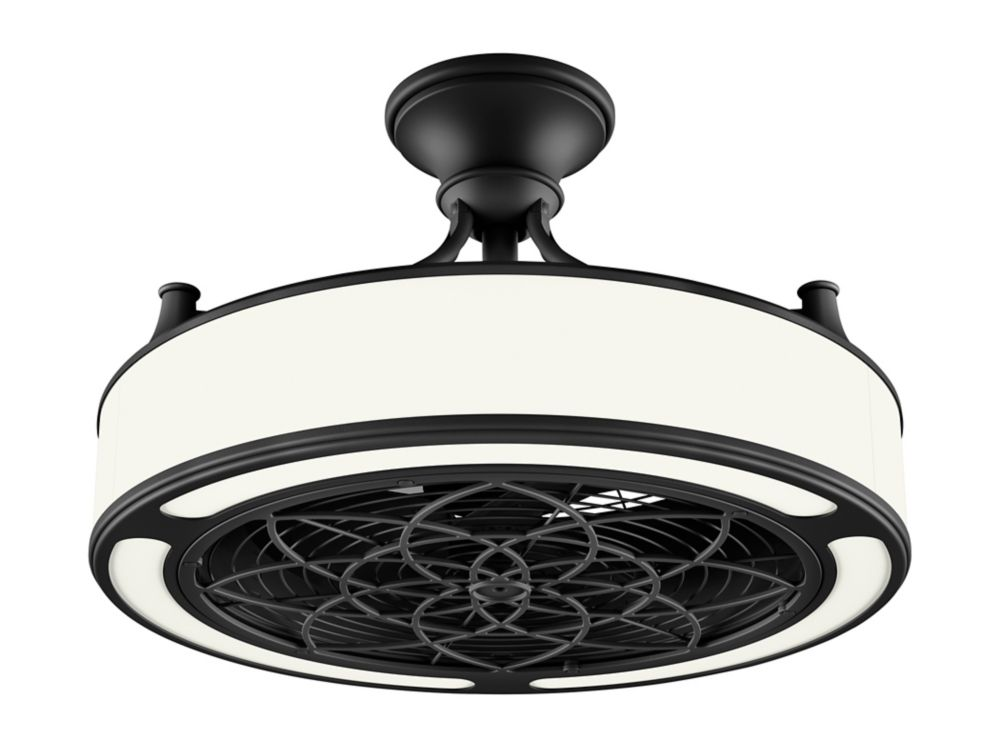 Stile Anderson 22-inch LED Indoor/Outdoor Black Ceiling ...