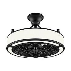 Ventilateur de plafond Anderson 22 pouces à DEL noir intérieur/extérieur avec télécommande