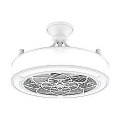 Ventilateur de plafond à DEL Anderson 22 pouces pour intérieur/extérieur, blanc