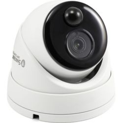 Swann 4K Outdoor True Detect Thermal-Sensing Dome Security Camera - White