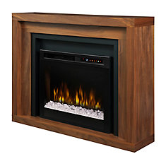 Anthony Mantel Electric Fireplace with Glass Ember Bed