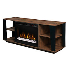 Arlo Media Console Electric Fireplace with Glass Ember Bed