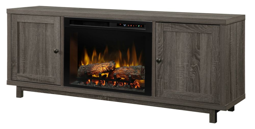 Dimplex Jesse Media Console Electric Fireplace with Log Bed