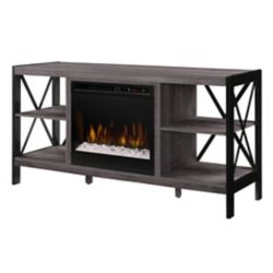 Dimplex Ramona Media Console Electric Fireplace with Glass Ember Bed