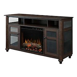 Dimplex Xavier Media Console Electric Fireplace with Log Bed