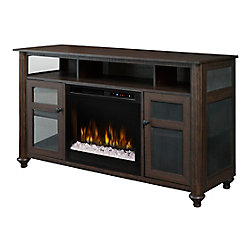 Dimplex Xavier Media Console Electric Fireplace with Glass Ember Bed