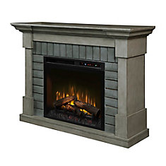 Royce Electric Fireplace Mantel with Log Bed