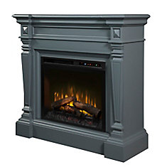 Heather Electric Fireplace Mantel with Log Bed
