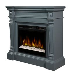Dimplex Heather Electric Fireplace Mantel with Glass Ember Bed