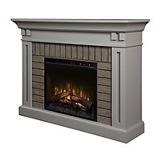 Madison Electric Fireplace Mantel with Log Bed