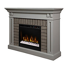 Madison Electric Fireplace Mantel with Glass Ember Bed