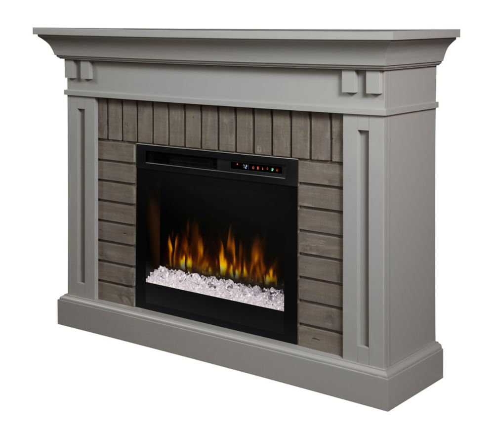 Dimplex Madison Electric Fireplace Mantel with Glass Ember Bed