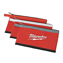 12 inch Zipper Tool Bag in Multi-Color (3-Pack)