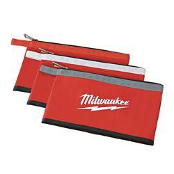 Milwaukee Tool 12 inch Zipper Tool Bag in Multi-Color (3-Pack)