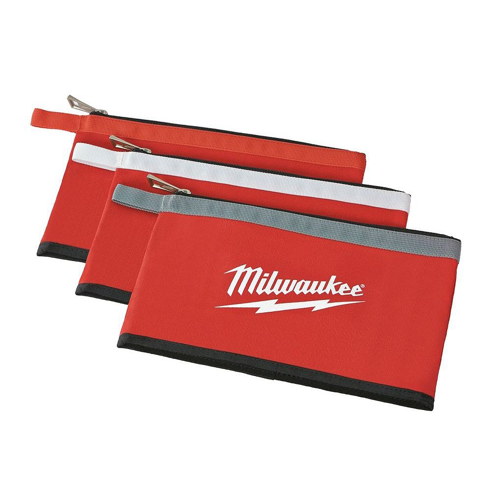 Milwaukee Tool 12-inch Zipper Tool Bag in Multi-Color (3-Pack)