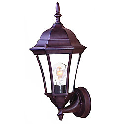 Acclaim Bryn Mawr Collection Wall-Mount 1-Light Outdoor Burled Walnut Light Fixture