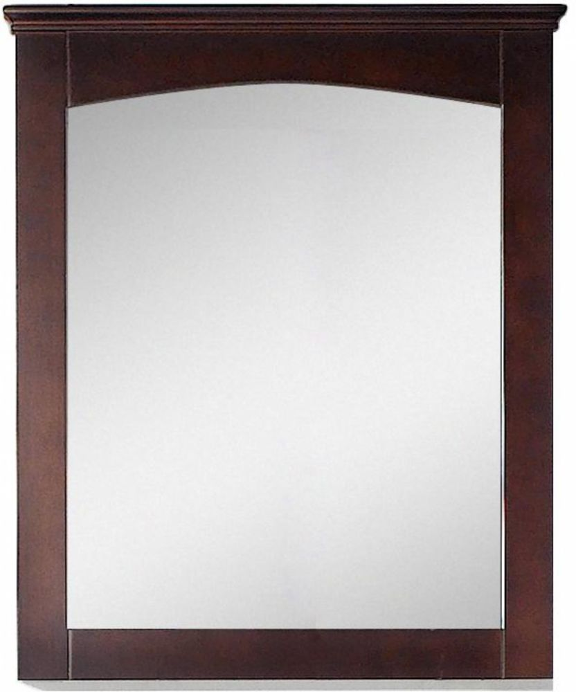 American Imaginations 30 inch W 31.5 inch H Modern Plywood-Veneer Wood Mirror In Walnut