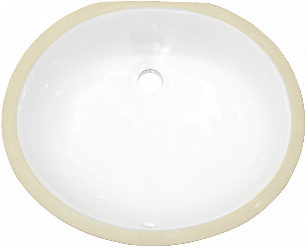 18.25 inch W 15.25 inch D CSA Certified Oval Undermount Sink In White Color