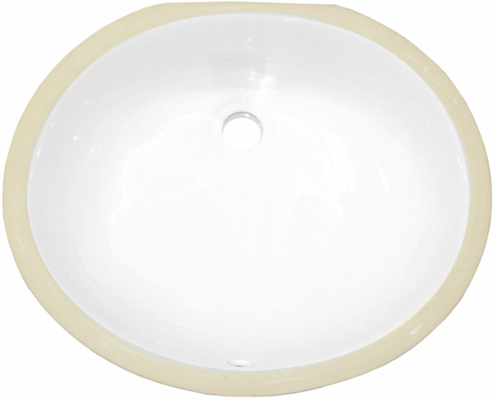 American Imaginations 18.25 inch W 15.25 inch D CSA Certified Oval Undermount Sink In White Color