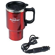 12V USB Travel Mug Red