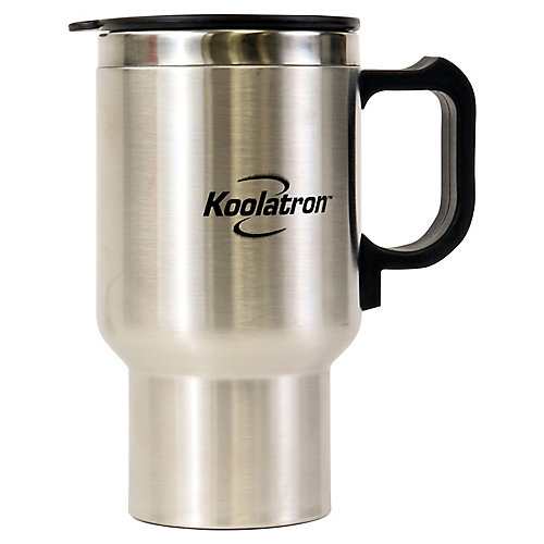 12V USB Travel Mug Silver