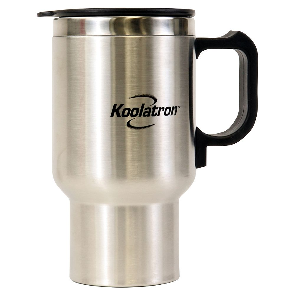 Koolatron 12V USB Travel Mug Silver