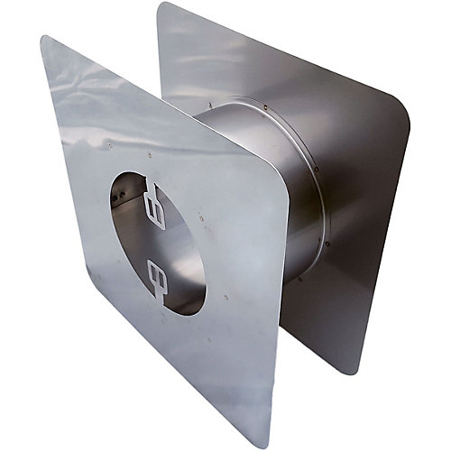 Z-Vent 4 inch. Adjustable Wall Thimble