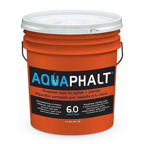Aquaphalt Réparation permanente pour l'asphalte, 6,0 (moyen), 23kg