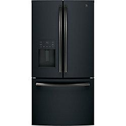 GE 36-inch 25.6 cu. ft. French Door Refrigerator in Black Slate, ENERGY STAR