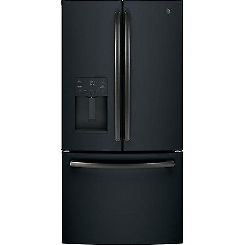 Réfrigérateur À Portes Françaises De, 25,6 pi3- Ardoise Noire