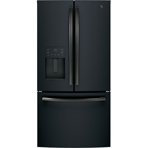 GE 36-inch 25.6 cu. ft. French Door Refrigerator in Black Slate, ENERGY STAR