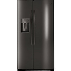 36-inch 25.3 cu. ft. Side by Side Refrigerator in Black Stainless Steel, ENERGY STAR