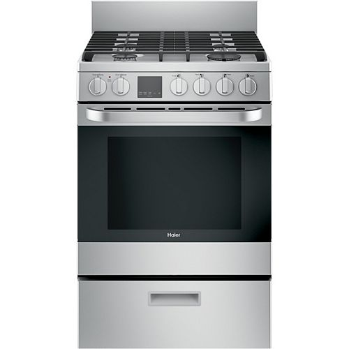 Haier 24-inch 2.9 cu. ft. Gas Range Convection Oven in Stainless Steel