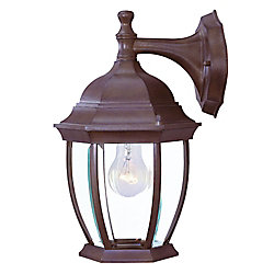 Acclaim Wexford Collection Wall-Mount 1-Light Outdoor Burled Walnut Light Fixture