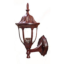 Acclaim Suffolk Collection Wall-Mount 1-Light Outdoor Burled Walnut Fixture