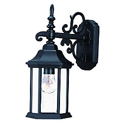 Acclaim Madison Collection Wall-Mount 1-Light Outdoor Matte Black Light Fixture