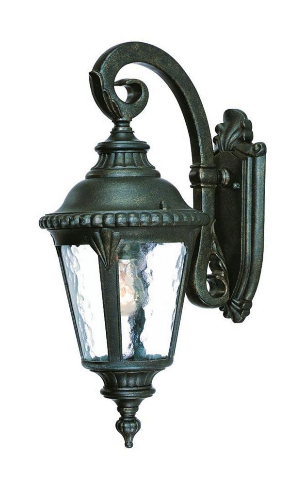 Acclaim Surrey Collection Wall-Mount 1-Light Outdoor Black Gold Fixture