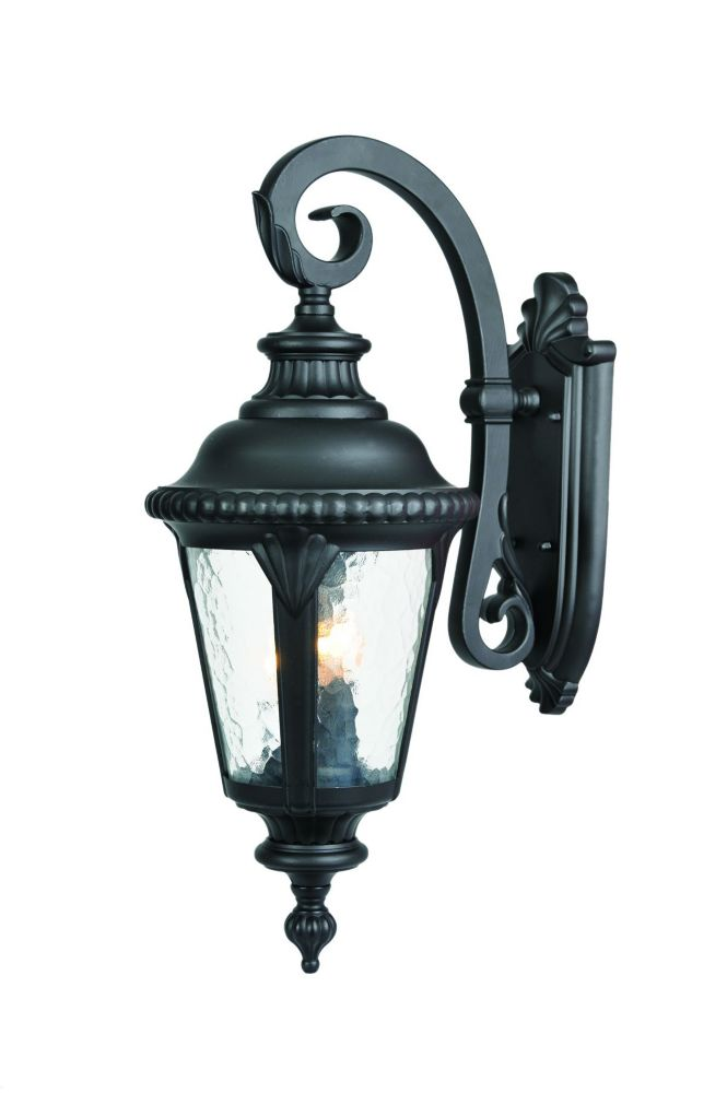 Acclaim Surrey Collection Wall-Mount 3-Light Outdoor Matte Black Fixture