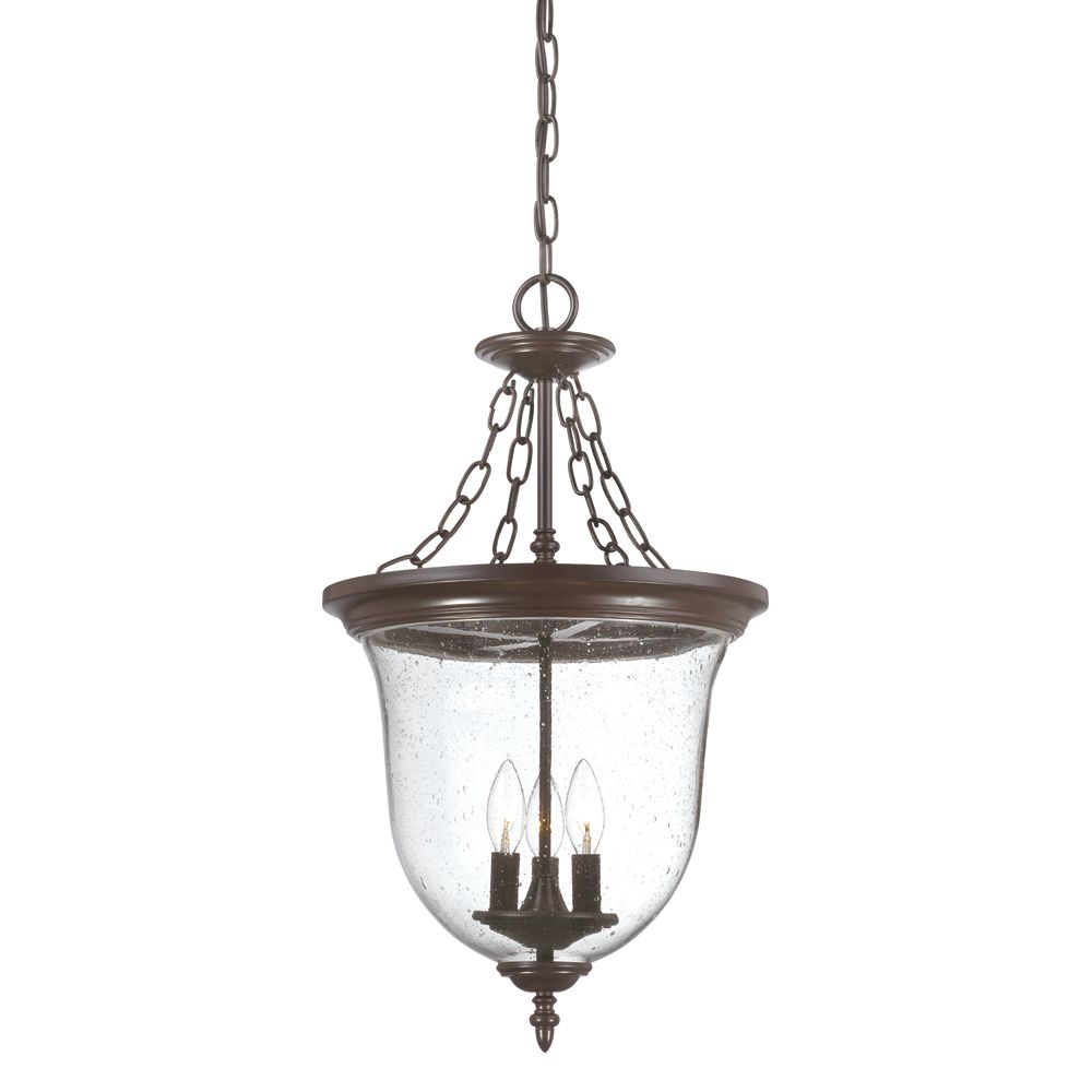 Acclaim Belle Collection Hanging Lantern 3-Light Outdoor Fixture in Architectural Bronze