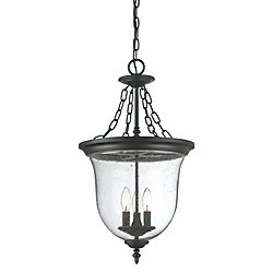 Acclaim Belle Collection Hanging Lantern 3-Light Outdoor Fixture in Matte Black