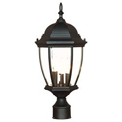 Acclaim Wexford Collection Post-Mount 3-Light Outdoor Matte Black Light Fixture