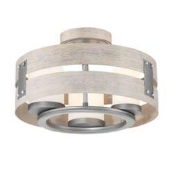 Eurofase Ackwood 3-Light Grey Clear Glass Semi-Flushmount and Pendant Light Fixture