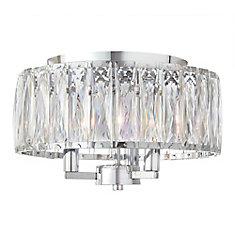 Plafonnier à 3 ampoules, chrome