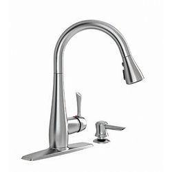 American Standard Olvera Single-Handle High Arc Pull-Down Kitchen Faucet with Soap Dispenser