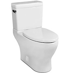 Icera USA The Cadence II Compact Elongated 2-Piece Skirted Toilet (White)