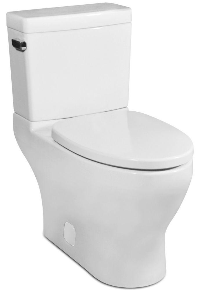 Icera USA The Cadence II Compact Elongated 2-Piece Skirted Toilet (White)