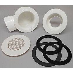 MUSTEE Side Outlet Drain For 1-1/2 inch PVC Pipe (use PVC cement)