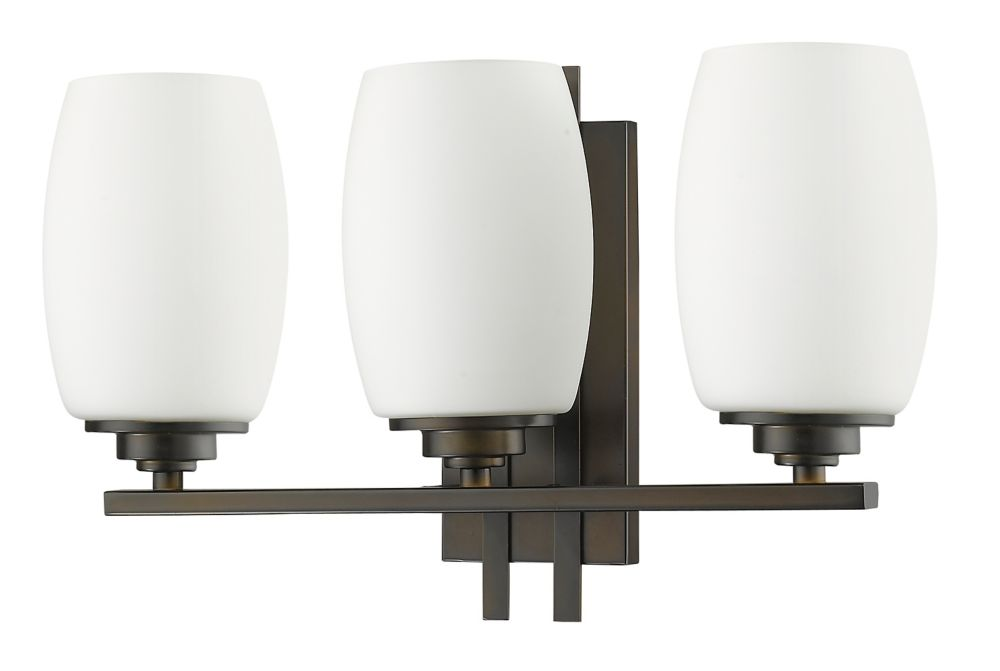 Acclaim Sophia Indoor 3-Light Vanity light with Glass Shades In Oil Rubbed Bronze