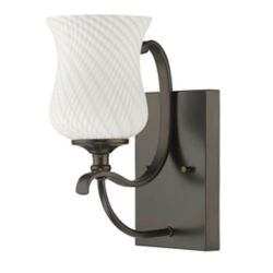 Acclaim Evelyn Indoor 1-Light Sconce with hand blown Glass Shade In Oil Rubbed Bronze