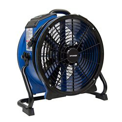 XPOWER 1/3 Hp Professional High Temperature Axial Fan With Daisy Chain, Rack And Timer